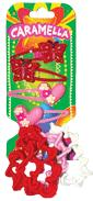 Набор аксессуаров для волос: 4 резинки, 4 заколочки, красные, розовые, белые