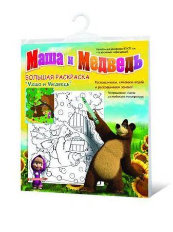 """раскраска """"МАША И МЕДВЕДЬ"""" на дереве, напольная, Маша и Медведь"""