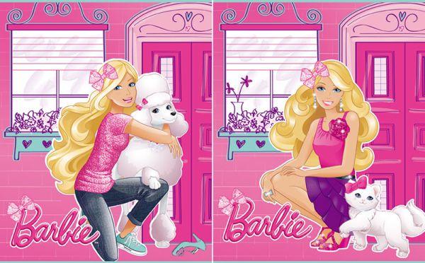 Тетрадь 12л клетка Barbie