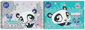 Альбом для рисования 20л даблспираль Littlest Pet Shop выб УФ лак