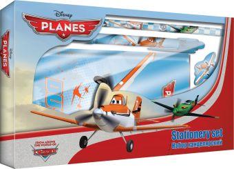 Набор канцелярский Planes в подарочной коробке с вырубкой: ноутбук 7БЦ, ручка автоматическая, карандаш ч/г с ластиком