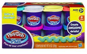 Play-Doh Пластилин: Набор из 8 банок пластилина Play-Doh PLUS (А1206)