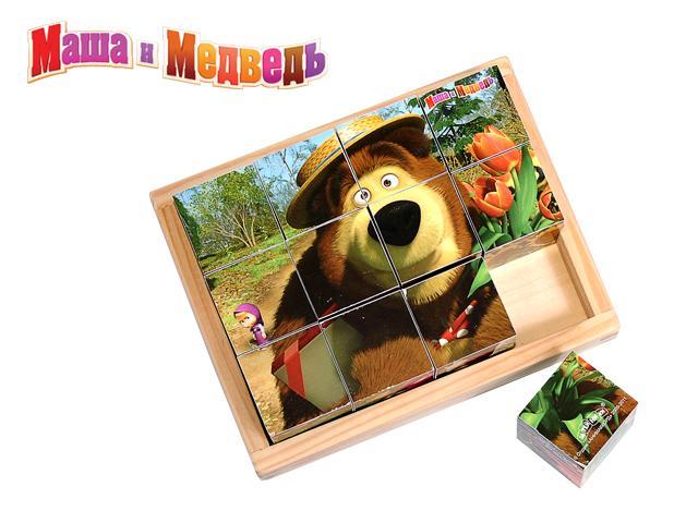 Кубики GT5076 Маша и Медведь 12 штук 15,7*12,4*4,5