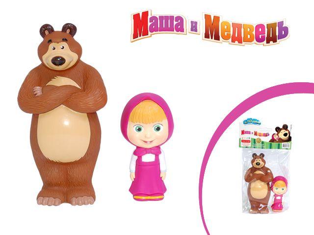 ММИ - Пластизоль 3359GT  Набор Маша и Медведь 8 и 14 см обложка книги