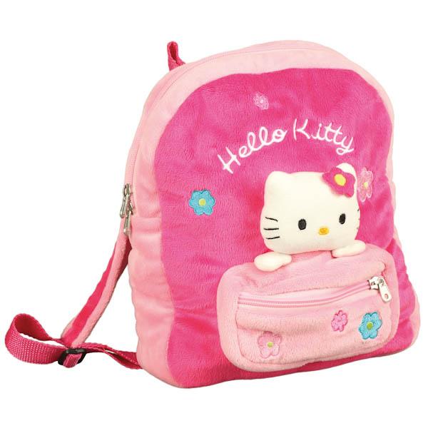 """Мягкий Рюкзак """"Мульти-Пульти"""" Hello Kitty, С Мягкой Игрушкой И Карманом В Пак. 27См"""