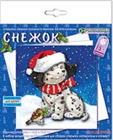 """Набор для изготовления новогодней открытки """"Снежок"""""""