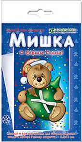 """Набор для изготовления новогодней открытки """"Мишка"""""""