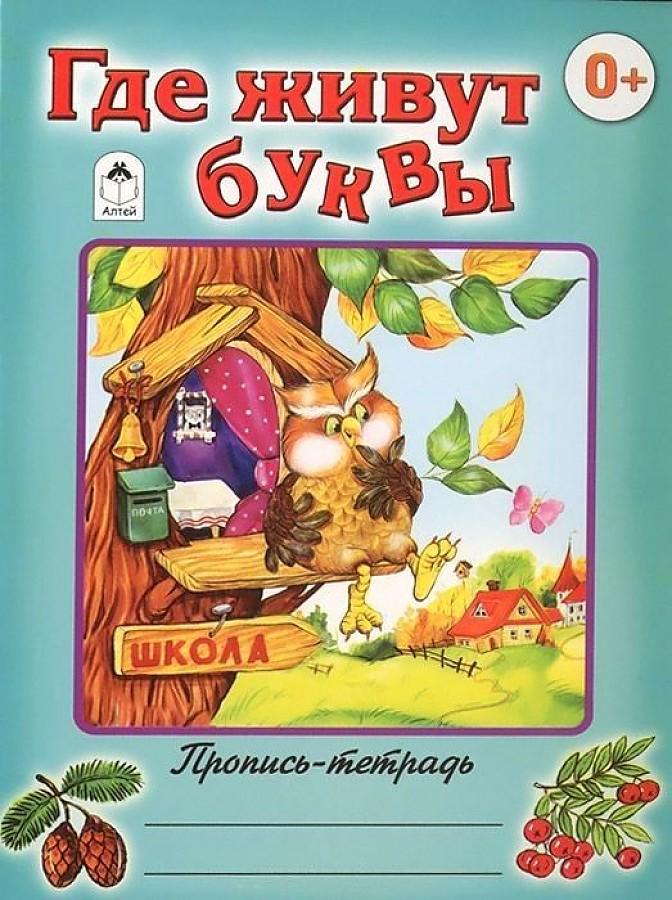 Д.Морозова - Где живут буквы (пропись-тетрадь цветная) обложка книги