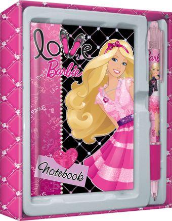 Набор канцелярский Barbie в подарочной коробке: ноутбук, ручка