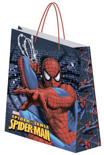 Пакет подарочный бумажный 33х43х10 Spiderman