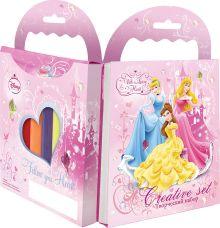 Набор творческий Принцессы: раскраска с карандашам