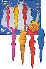 Набор восковых карандашей Винни 4шт