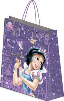 Пакет подарочный бумажный Принцессы 28х34х9 лам