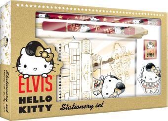 Набор канцелярский Hello Kitty в подарочной коробке с вырубкой:ноутбук 7БЦ,ручка автомат