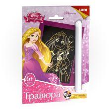 """Гравюра с эффектом золота """"Милая Рапунцель"""",малая, Принцессы Disney"""
