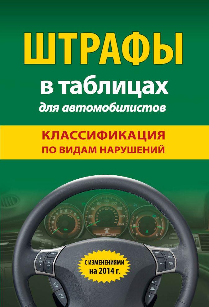 Штрафы в таблицах для автомобилистов с изм. на 2014 (классификация по видам нарушений)