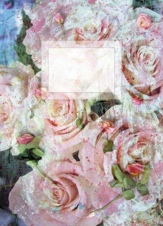 Блокнот для записей Белые розы А6