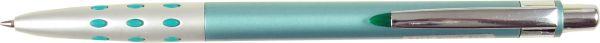 """Авторучка шариковая синяя """"CARAMEL"""" 0,7 мм в комбинированном ассорти (перламутровый цветной пластик + металл) корпусе с серебряным клипом."""