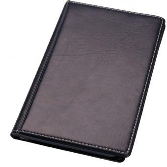 Визитница 3-х рядн.на 120 визиток из ПВХ-кожзаменителя , черный цвет