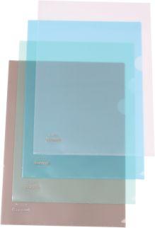 Папка- уголок пластиковая 0,16мм черная; формат А4.