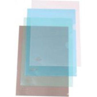 Папка- уголок пластиковая 0,16мм голубая; формат А4.