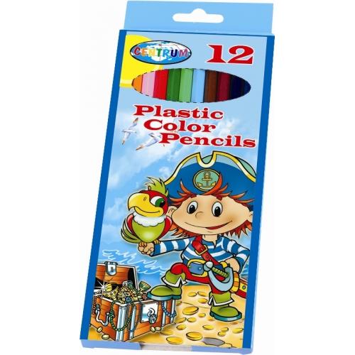 """Карандаши  12 цв длинные """"Пират"""" пластиковые длина 177 мм в картонной упаковке с подвесом заточенные"""