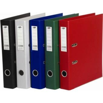 Папка - регистратор 5см разборная, с двусторонним ПВХ - покрытием, серая, с металлическим обрамлением.