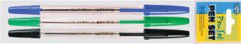 Набор ручек Pioneer 3 шт синий+черный+зеленый (80085+80086+80898) 82616