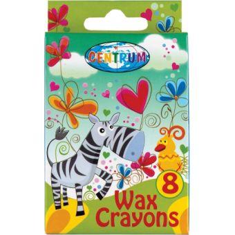 """Мелки восковые 8 цветов на масляной основе """"CRAZY GIRLS""""  в картонной упаковке с европодвесом. Длина мелка 88 мм, диаметр 7 мм."""