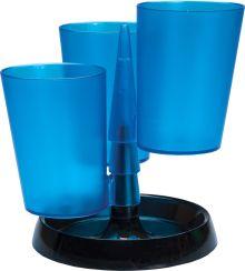 Настольная подставка пластиковая ,3 стакана, цвет ассорти