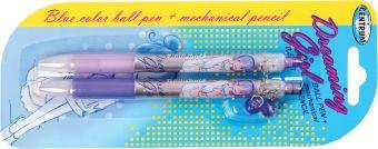 Набор детский: авторучка синяя (0,5 мм) + автокарандаш (0,5 мм)