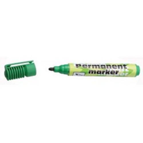 Маркер перманентный зеленый с конусообразным наконечником 1-5мм.