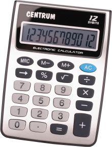 Калькулятор 12 - разрядный настольный с черным корпусом. Размер 150*120*35мм.