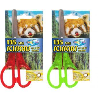 """Ножницы """"ZOO"""" для левшей детские с закругленными концами, 13,5см, сталь, пластиковые ручки."""