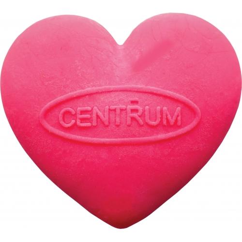 """Ластик розовый """"сердце"""" из синтетического каучука в индивидуальной упаковке с европодвесом."""