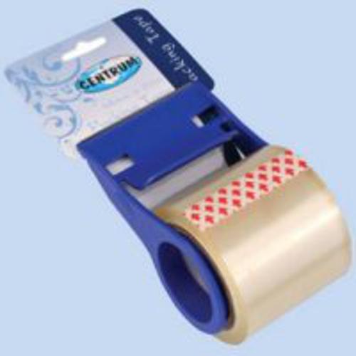 Скотч упаковочный 48 мм х 20 м прозрачный  с держателем, с картонным подвесом