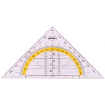 Транспортир в треугольнике 16 см. в инд ПВХ упаковке