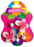 Н-р резинок д/волос,бабочки,2шт.бел/ярко-роз,акрил CARAMELLA