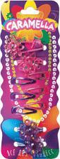 Набор закол: 4 резин.с цветами, 6 закол, роз/фиол