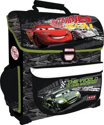 Рюкзак, спинка - толстый поролон, усиление пластиком, жесткие боковые и передняя стороны, размер34 х 27 х 12 см, упак. 4шт. Cars