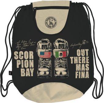 Сумка-рюкзак для обуви с клапаном. Размер48 х 37 см, упак. 12/24/96шт. Scorpion Bay