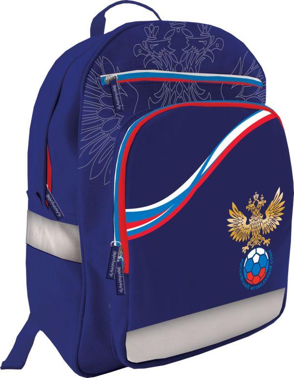 Рюкзак школьный. Размер41 х 31 х 15 см, упак. 3//12шт. Российский Футбольный Союз (РФС)