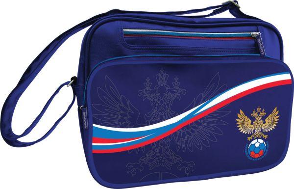 Сумка школьная с карманом на молнии. Размер 28 x 37 x 9,5 см, упак. 4//12 шт. Российский Футбольный Союз (РФС)