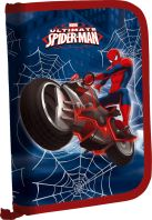 Пенал жесткий тканевый с клапаном, с креплениями для канцелярских принадлежностей. Размер20,5 х 14 х 3,5 см, упак. 3//12шт.Spider-man