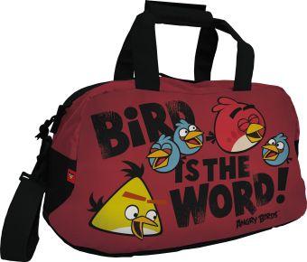 Сумка спортивная c боковым карманом и отделением для мобильного телефона. Размер 26 х 50 х 15 см Упак. 6/12/24 шт. Angry Birds