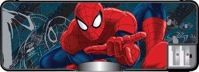 Пенал жесткий с точилками (пластик, PVC). Размер 8 х 23 х 2,5 см Упак. 6/48 шт. Spider-man Classic - фото 1
