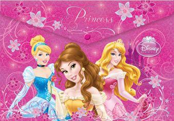 Пластиковая папка-конверт, с застежкой. Princess