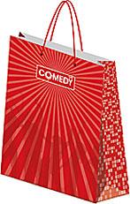 Пакет бумажный 33х43х10 см матовая ламинация Comedy Club