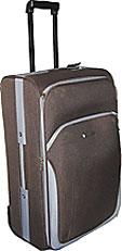 Тканевый чемодан, высота - 51см, цвет - синий Around the world