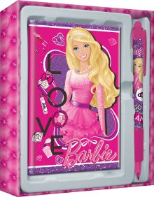 Набор канцелярский в подарочной коробке: ноутбук 7БЦ (внутр. блок печать 1+1), ручка автоматическая. Размер 13 х 16 х 2 см Упак. 15/120 Barbie